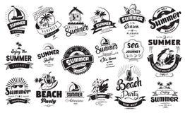 Summer holidays badge vector illustration