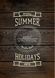 Summer holidays badges logos and labels for any use Stock Photography