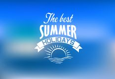 Summer holidays banner Stock Image