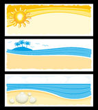Summer holidays banners set Stock Images