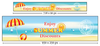Summer Holidays banners Royalty Free Stock Image