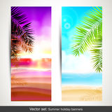 Summer holidays banners Stock Photography
