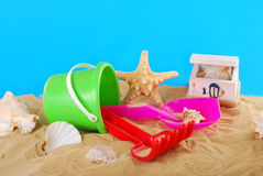 Summer holidays on the beach Stock Image