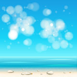 Summer Holidays beach background Stock Photography