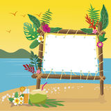 Summer holidays on the beach with copy space background. Royalty Free Stock Image