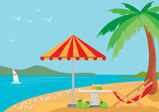 Summer holidays on the beach. Royalty Free Stock Photo