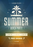 Summer Holidays Beach Party Typography Poster or Flyer Design Stock Photo