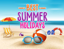 Summer Holidays in Beach Seashore Royalty Free Stock Photos