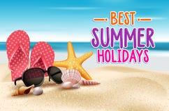 Summer Holidays in Beach Seashore Stock Image