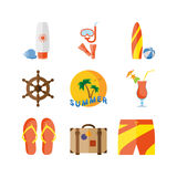 Summer holidays, beach vacation. Stock Image