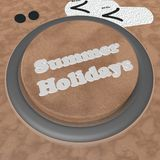 Summer holidays button Royalty Free Stock Photography