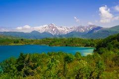 Summer holidays at Campotosto lake Stock Photo