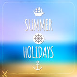 Summer holidays card. Blurry vector landscape. Stock Photos