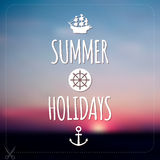 Summer holidays card. Blurry vector landscape. Royalty Free Stock Photography