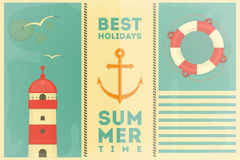 Summer Holidays Card Stock Photos