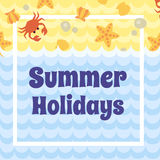 Summer Holidays card Stock Photography