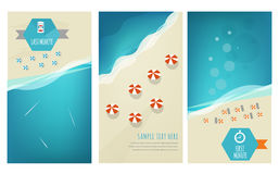 Summer Holidays cards. With sea elements vector illustration