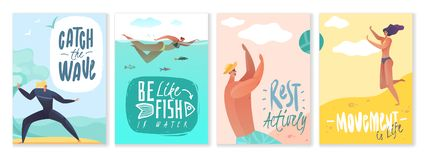 Summer holidays cards royalty free illustration