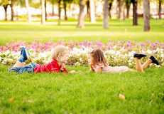 Summer holidays and children happiness. Stock Photos