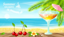 Summer Holidays .Cocktail Time. Royalty Free Stock Image