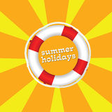 Summer holidays color vector illustartion Royalty Free Stock Photography