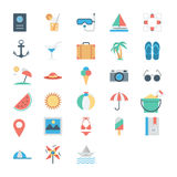 Summer and Holidays Colored Vector Icons 1 Stock Photo