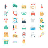 Summer and Holidays Colored Vector Icons 4 Stock Photography
