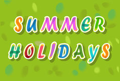 Summer holidays. Colorful letters Royalty Free Stock Photo