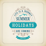 Summer holidays coming curl poster Royalty Free Stock Photography