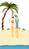 Summer holidays. Couple in love spending summer holidays on the beach Stock Photography
