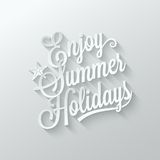 Summer holidays cut paper lettering background Royalty Free Stock Photos