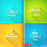 Summer holidays design Royalty Free Stock Photos
