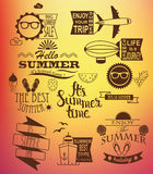 Summer holidays design elements. Royalty Free Stock Photos