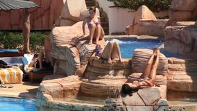 Summer holidays stock video footage