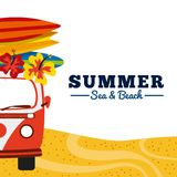 Summer holidays enjoy icon. Vector illustration design Stock Photo