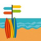 Summer holidays enjoy icon. Vector illustration design Royalty Free Stock Photo