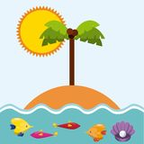 Summer holidays enjoy icon. Vector illustration design Stock Photography