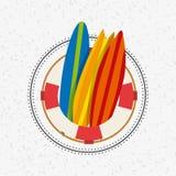 Summer holidays enjoy icon. Vector illustration design Royalty Free Stock Image