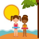 Summer holidays enjoy icon. Vector illustration design Royalty Free Stock Photography
