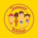 Summer holidays enjoy icon. Vector illustration design Stock Images