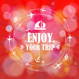 Summer holidays. Enjoy your trip poster  background. Royalty Free Stock Image