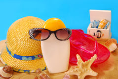 Summer holidays equipment Royalty Free Stock Image