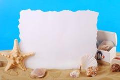 Summer holidays frame stock photo