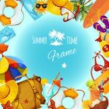 Summer Holidays Frame Stock Photography