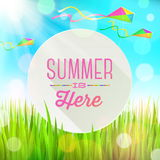 Summer holidays greeting Stock Images
