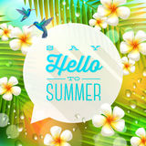 Summer holidays greeting Stock Photos