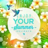 Summer holidays greeting vector illustration