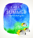Summer holidays greeting Royalty Free Stock Photos