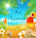Summer holidays greeting Royalty Free Stock Photography