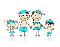 Summer holidays. Happy family for your design Stock Photography